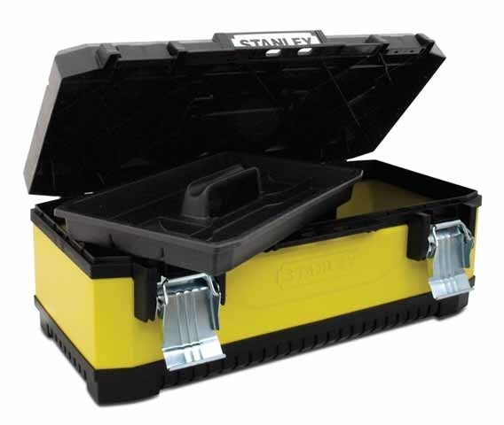 Ящик металлопластиковый 20`` Stanley Yellow Metal Plastic Toolbox (195612)