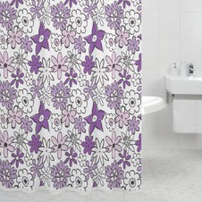 Штора для ванн Milardo 600P180M11 Magic Flowers (violet)