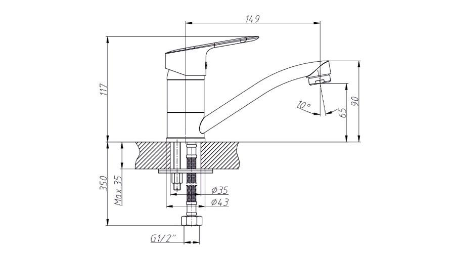Смеситель Triton УУ8 для раковины купить смеситель для ванны с душем цены