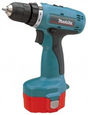 Дрель аккумуляторная Makita 6280 DWPLE (14,4 В, БЗП.10мм, 2скор, 36нм, 1,6кг, 2акк.1,3Ач, фонарь, кейс)