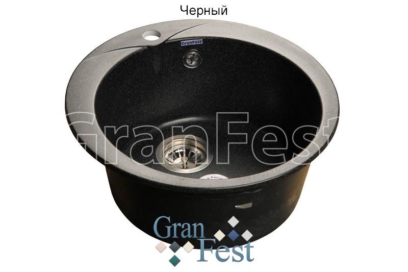 Мойка кухонная GranFest Rondo GF-R480 черный мебель ванная комната горения