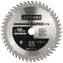 Диск пильный STAYER MASTER SUPER-Line 3682-190-30-48 по дереву, 190х30мм, 48Т