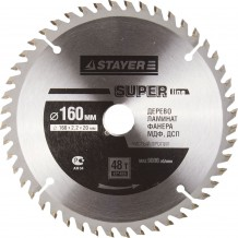 Диск пильный STAYER MASTER SUPER-Line 3682-160-20-48 по дереву, 160х20мм, 48Т