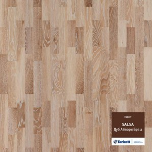Паркетная доска Tarkett Salsa Oak Ivory Brushed Дуб Айвори Браш