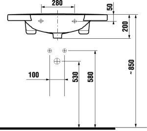 Раковина-столешница 85см jika mio 1471.2 столешница для кухни ростов на дону