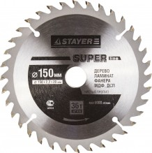 Диск пильный STAYER MASTER SUPER-Line 3682-150-20-36 по дереву, 150х20мм, 36Т
